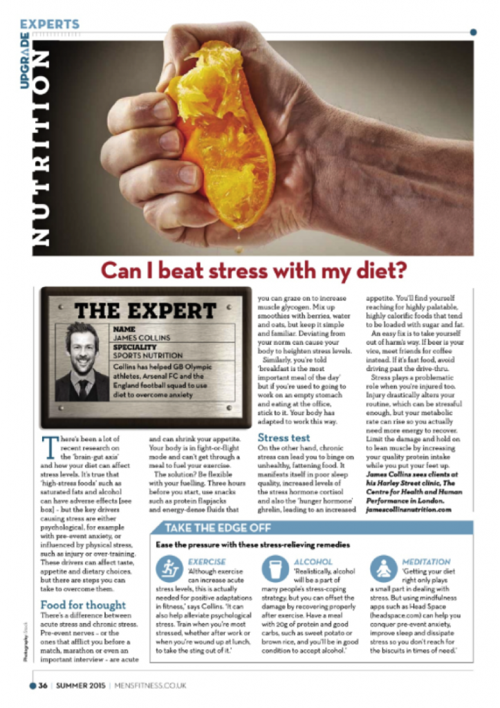 Mens Fitness - Stress and the diet